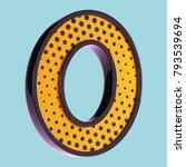 letter o. pop art font. 3d font ... | Shutterstock . vector #793539694