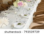 decoration and table... | Shutterstock . vector #793539739