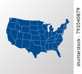 united states of america map.... | Shutterstock .eps vector #793540879