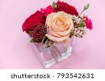 isolated on pink background... | Shutterstock . vector #793542631