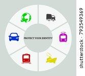 business infographics. pie... | Shutterstock .eps vector #793549369