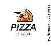 pizza delivery logo  pizzeria... | Shutterstock .eps vector #793549651