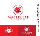 red maple leaf logo... | Shutterstock .eps vector #793550134