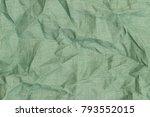 wrinkled linen fabric... | Shutterstock . vector #793552015