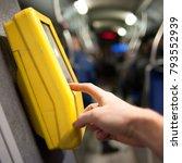 public transport and e tickets | Shutterstock . vector #793552939