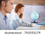students learning in classroom  ... | Shutterstock . vector #793553179