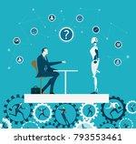 rpa robotic progress...   Shutterstock .eps vector #793553461