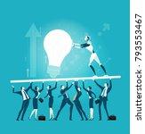 rpa robotic progress... | Shutterstock .eps vector #793553467