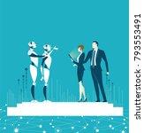 rpa robotic progress...   Shutterstock .eps vector #793553491
