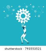 rpa robotic progress...   Shutterstock .eps vector #793553521