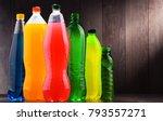 plastic bottles of assorted... | Shutterstock . vector #793557271