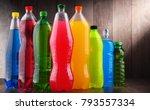 plastic bottles of assorted... | Shutterstock . vector #793557334