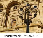 Street Lamp Against The Facade...