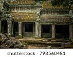 ancient temple of ta prohm in... | Shutterstock . vector #793560481