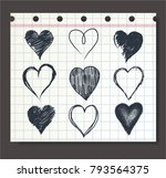 set of handrawn heart icon | Shutterstock .eps vector #793564375