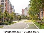 flat stone pedestrian walkway...   Shutterstock . vector #793565071