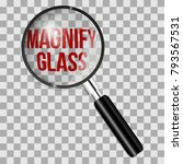 magnifying glass with isolated... | Shutterstock .eps vector #793567531
