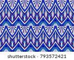 geometric folklore ornament.... | Shutterstock .eps vector #793572421