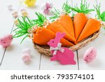 handmade packages in form of... | Shutterstock . vector #793574101