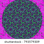 illustration of a mosaic image  ... | Shutterstock . vector #793579309