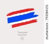 flag of thailand in grunge... | Shutterstock .eps vector #793584151