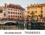 annecy  france   april 8  2017. ... | Shutterstock . vector #793585051