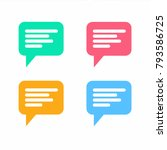 chat bubble icon. vector | Shutterstock .eps vector #793586725