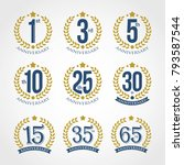 anniversary sign collection ... | Shutterstock .eps vector #793587544