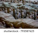 the terracotta army warriors at ... | Shutterstock . vector #793587625