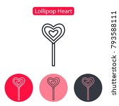 heart lollipop icon. love candy ... | Shutterstock .eps vector #793588111