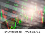 stock market or forex trading... | Shutterstock . vector #793588711