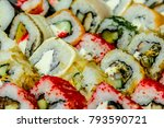 delicious sushi from a local... | Shutterstock . vector #793590721
