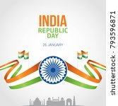 indian republic day 26 january... | Shutterstock .eps vector #793596871
