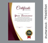 certificate template with... | Shutterstock .eps vector #793600564
