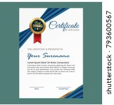 certificate template with... | Shutterstock .eps vector #793600567