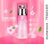 sakura nature essence water ... | Shutterstock .eps vector #793601305