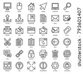 set of email connection icon ... | Shutterstock .eps vector #793601407