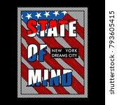 state of mind vintage... | Shutterstock .eps vector #793605415