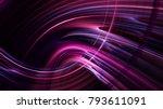 Abstract Purple On Black...