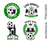 soccer sports bar or football... | Shutterstock .eps vector #793613605