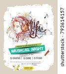 music party brochure  flyer ... | Shutterstock .eps vector #793614157