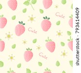 seamless pattern with sweet... | Shutterstock .eps vector #793614409