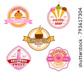 candy shop or patisserie... | Shutterstock .eps vector #793617304
