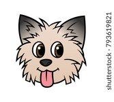 cartoon yorkshire terrier dog... | Shutterstock .eps vector #793619821