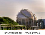 large white reservoirs for the... | Shutterstock . vector #793619911