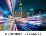 double exposure with traffic... | Shutterstock . vector #793622719