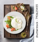 Sliced Italian Cheese Burrata...