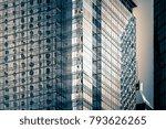 modern office building close up ... | Shutterstock . vector #793626265