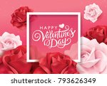 happy valentines day greeting... | Shutterstock .eps vector #793626349