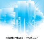 blue city | Shutterstock . vector #7936267